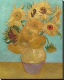Vase with Twelve Sunflowers, 1889 Lærredstryk på blindramme af Vincent van Gogh