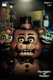 Five Nights At Freddy's- Scary Characters Poster