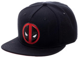 Deadpool- Chrome Brick Logo Snapback Hat