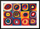 Color Study of Squares Posters by Wassily Kandinsky
