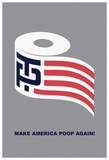 Help Make America Poop Again (Grey) Print