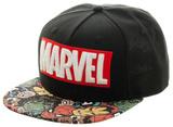 Marvel- Classic Heroes Bill Logo Snapback Hat