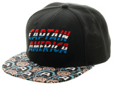 Captain America- Determined Hero Bill Snapback Hat