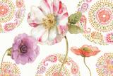 Rainbow Seeds Paisley III Print by Lisa Audit