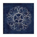 Rosette VI Indigo Prints by Wild Apple Portfolio