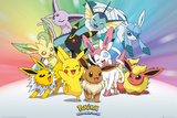 Pokemon- Eevee-Lutions Póster