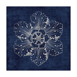 Rosette V Indigo Prints by Wild Apple Portfolio