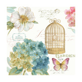 Rainbow Seeds Floral Birdcage III Prints by Lisa Audit