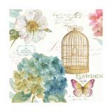 Rainbow Seeds Floral Birdcage III Prints by Lisa Audit
