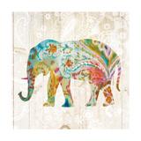 Boho Paisley Elephant II Prints by Danhui Nai
