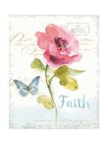 Rainbow Seeds Floral VI Faith Prints by Lisa Audit
