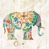 Boho Paisley Elephant I Poster by Danhui Nai