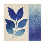 Indigo Leaves I Poster by  Studio Mousseau