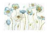 My Greenhouse Flowers I on Linen Prints by Lisa Audit