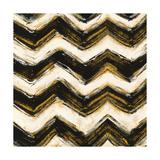 Black and Gold Geometric IV Crop Prints by Shirley Novak