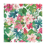 Tropical Dream Bright on White Print by Danhui Nai