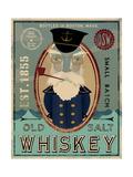 Fisherman III Old Salt Whiskey Affiches par Ryan Fowler