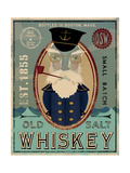 Fisherman III Old Salt Whiskey Premium Giclee Print by Ryan Fowler