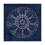 Rosette VII Indigo Art by Wild Apple Portfolio