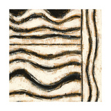 Black and Gold Geometric VI Art by Shirley Novak