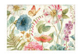 Rainbow Seeds Flowers I on Wood Cream Posters by Lisa Audit