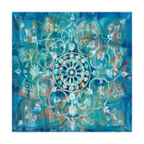 Mandala in Blue I Sq Prints by Danhui Nai