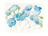 Black Line Poppies III Watercolor Art by Shirley Novak