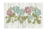 Vibrant Row of Hydrangea on Wood Posters by Cheri Blum