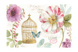 Rainbow Seeds Floral Birdcage I Prints by Lisa Audit