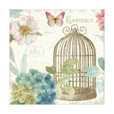Rainbow Seeds Floral Birdcage III v2 Art by Lisa Audit