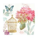 Rainbow Seeds Floral Birdcage II Print by Lisa Audit
