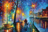 Leonid Afremov- Melody Of The Night Poster van Leonid Afremov