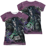 Juniors: Suicide Squad- Enchantress Psychedelic Graffiti (Front/Back) Shirts