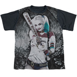 Youth: Suicide Squad- Tunnel Vision Harley Black Back T-shirts
