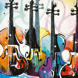 Variation for Violin I Giclee Print by Patrick Cornée