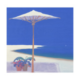 Yacht Passing the Terrace, 1999 Giclee Print by John Miller
