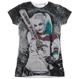 Juniors: Suicide Squad- Tunnel Vision Harley T-Shirt