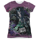 Juniors: Suicide Squad- Enchantress Psychedelic Graffiti T-shirts