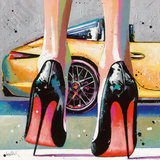 My high Heels, my pretty Car and Me Giclee Print by Patrick Cornée