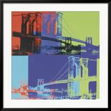 Brooklyn Bridge, c.1983 (Orange, Blue, Lime) Posters