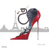 With Paris Sky Line Giclee-trykk av Marilyn Robertson