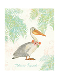 Flamingo Tropicale I Premium Giclee Print by Sue Schlabach