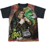 Youth: Suicide Squad- Killer Croc Psychedelic Graffitti Black Back Shirts