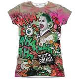 Juniors: Suicide Squad- Joker Psychedelic Graffiti Shirts