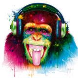 DJ Monkey Giclée-tryk af Patrice Murciano