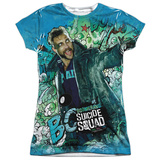 Juniors: Suicide Squad- Boomerang Psychedelic Graffiti T-shirts