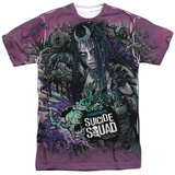 Suicide Squad- Enchantress Psychedelic Graffiti T-Shirt
