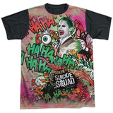 Suicide Squad- Joker Psychedelic Graffiti Black Back Shirt