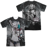 Suicide Squad- Tunnel Vision Harley (Front/Back) Shirts