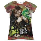 Juniors: Suicide Squad- Killer Croc Psychedelic Graffitti Shirts